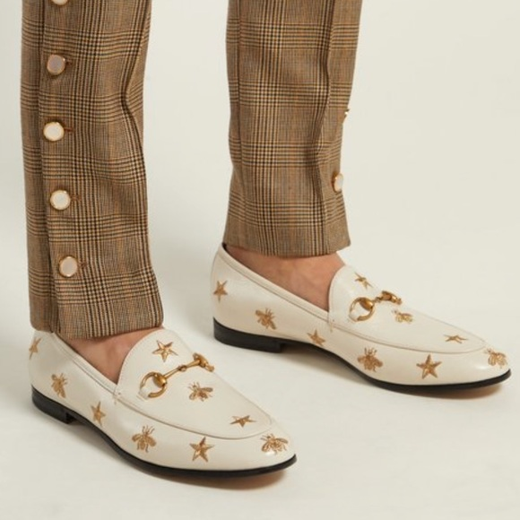 e3061c907e0 GUCCI New Jordaan embroidered leather loafers